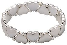 Pilgrim Silver-plated hearts and pearls bracelet