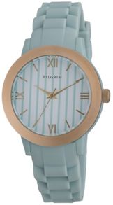 Pilgrim Feminine gold plated and blue watch