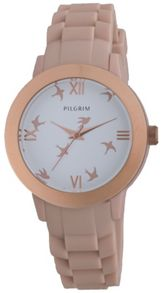 Pilgrim Rose gold and pink watch with birds