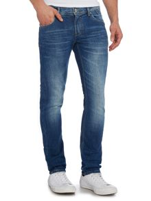 Medium Wash Low Rise Jeans