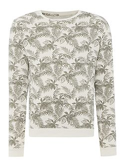 Print Crew Neck Pull Over Jumper
