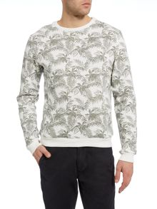 Casual Friday Print Crew Neck Pull Over Jumper