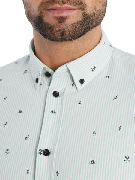 Casual Friday Stripe Classic Fit Long Sleeve Button Down Shirt