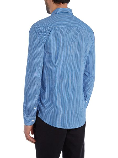 Casual Friday Check Slim Fit Long Sleeve Classic Collar Shirt