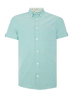 Men's Casual Friday Plain Slim Fit Short Sleeve