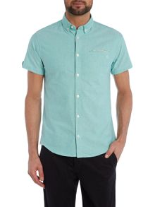 Casual Friday Plain Slim Fit Short Sleeve Button Down Shirt