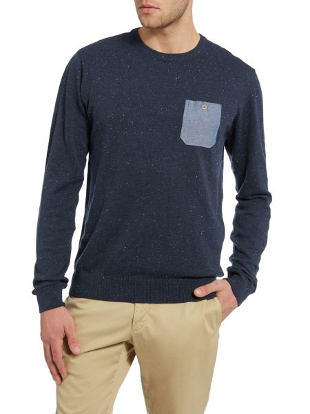 Casual Friday Textured Crew Neck Pull Over Jumper