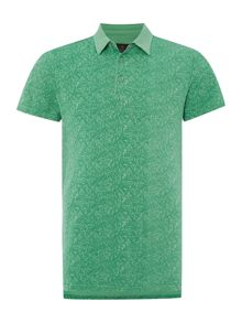Casual Friday Print Grandad Collar Slim Fit Polo Shirt