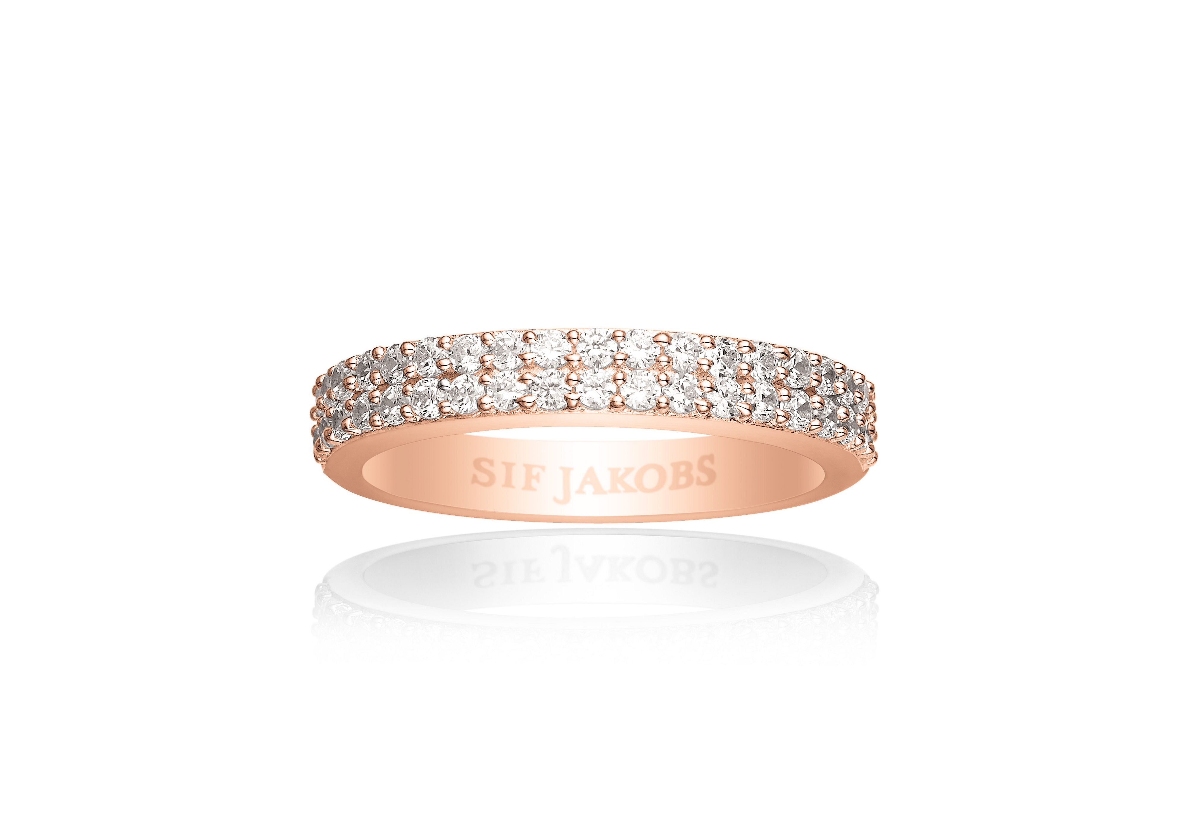 Sif Jakobs Sif Jakobs Corte due ring, Rose Gold