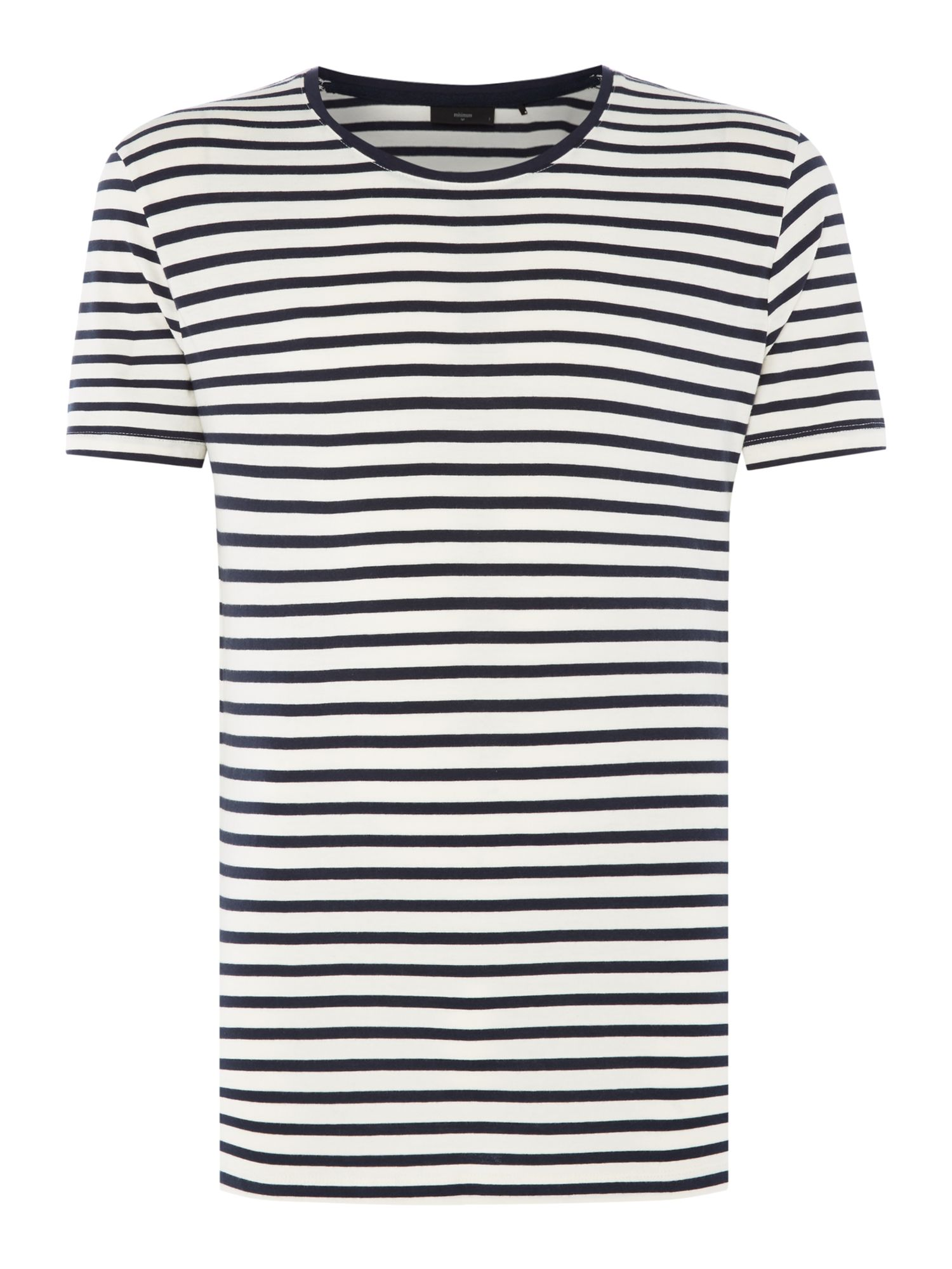 Men's Minimum Striped Crew Neck T-Shirt, Dark Blue