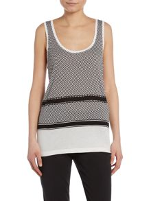 Part Two Scarf print jersey tank top