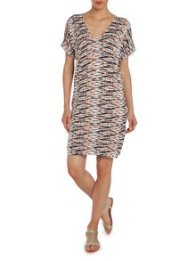 Part Two Patterned short sleeved tunic dress