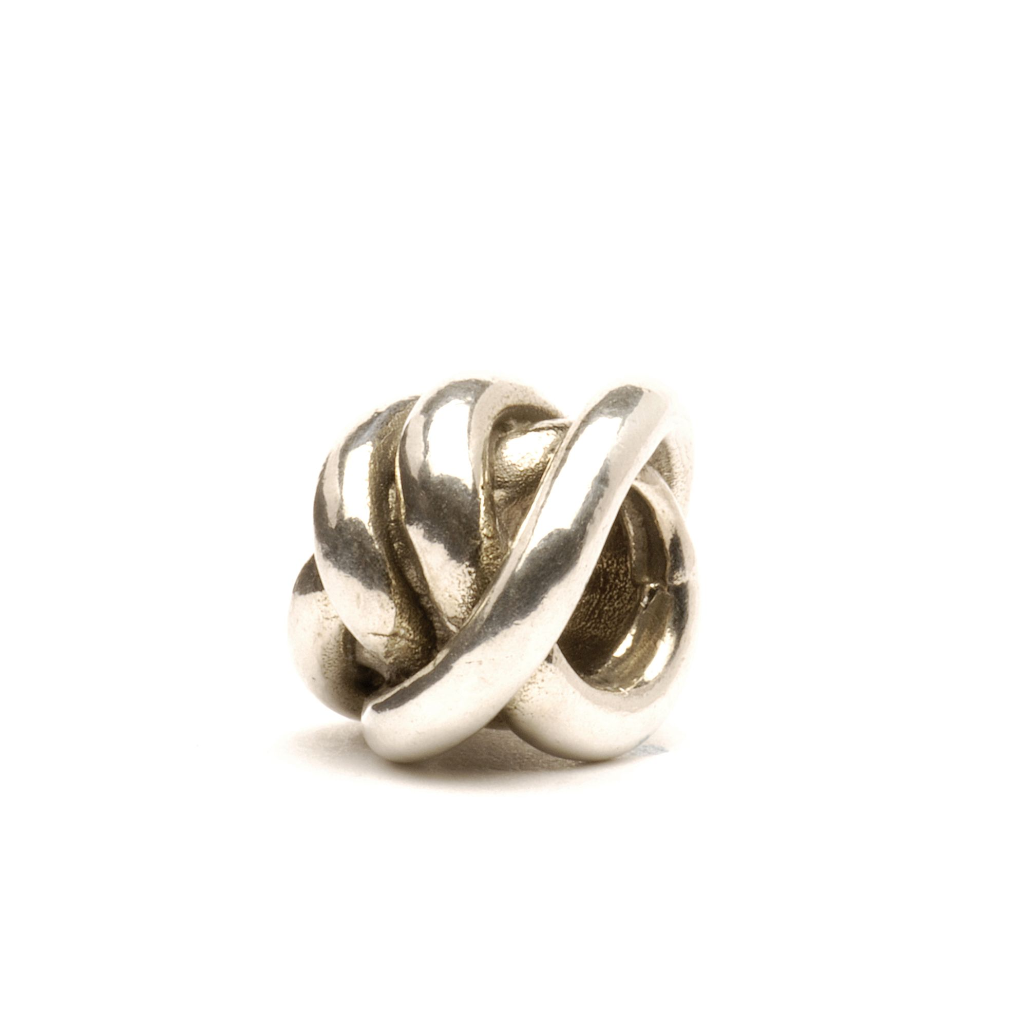 Lucky Knot silver charm bead