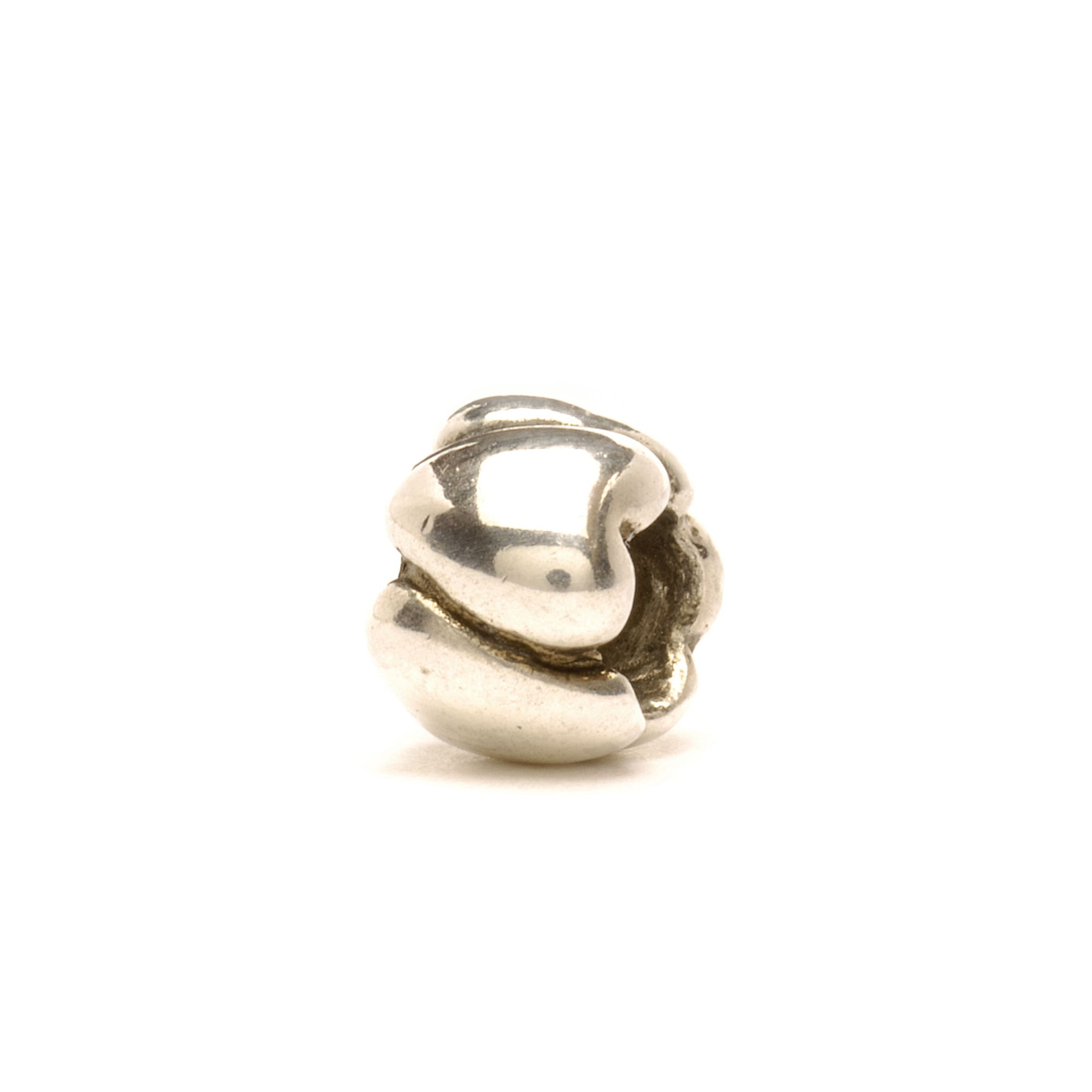 Small Hearts silver charm bead