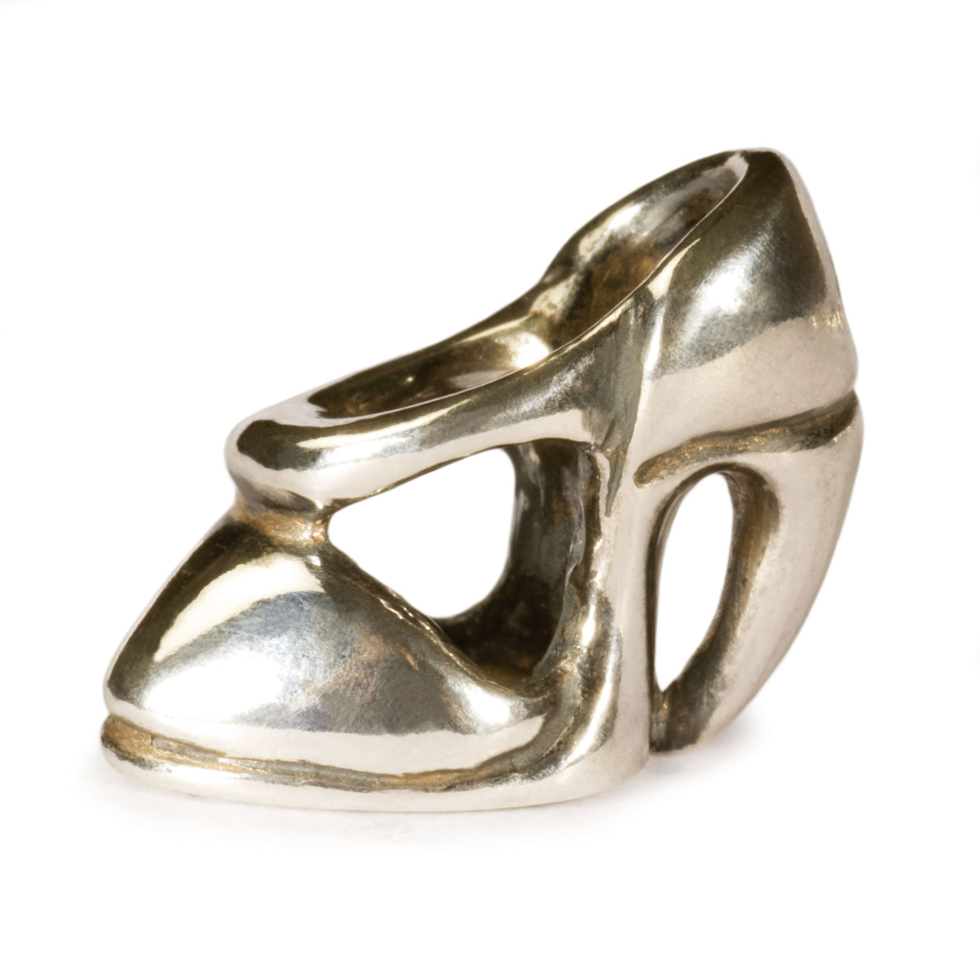 High Heel silver charm bead
