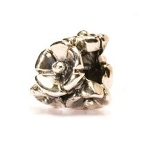 Forget-me-not silver charm bead
