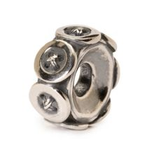 Trollbeads Buttons silver charm bead