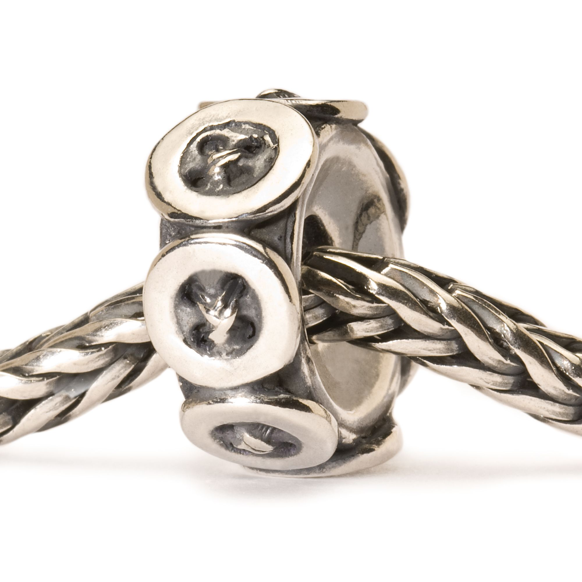 Buttons silver charm bead