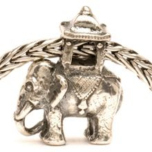 Indian Elephant silver charm bead