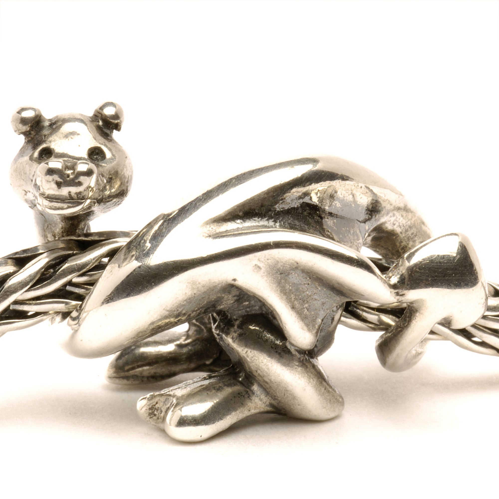 Lucky Dragon silver charm bead