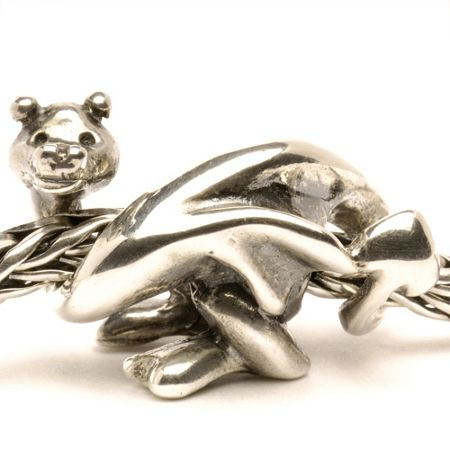 Trollbeads Lucky Dragon silver charm bead