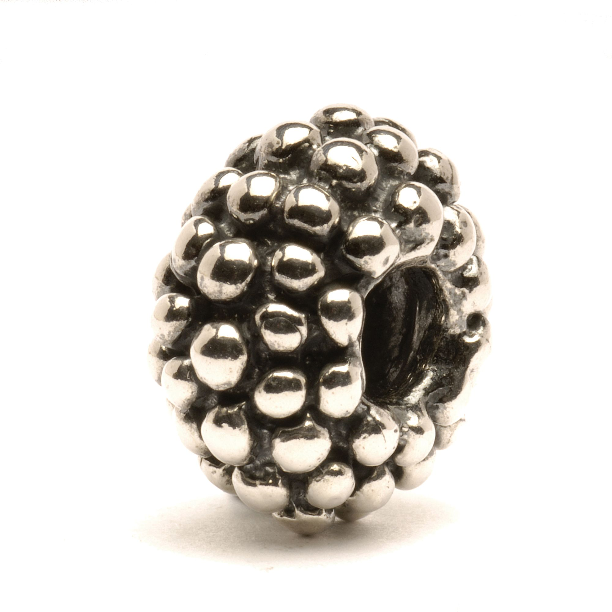 Large Berry silver charm bead