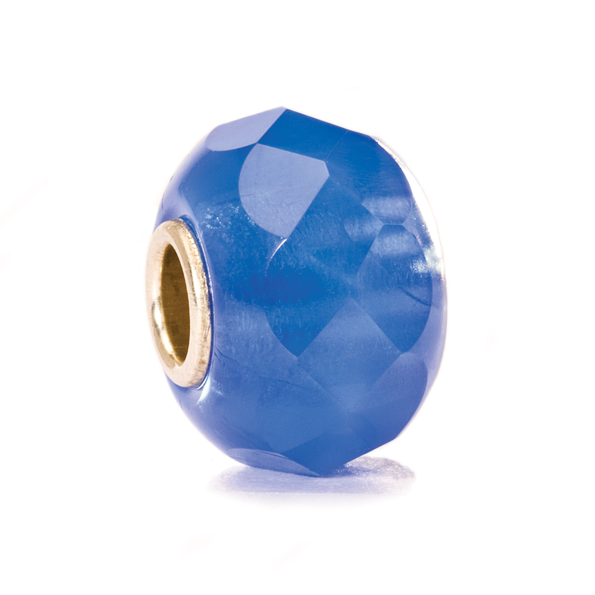 Denim Prism Glass Bead