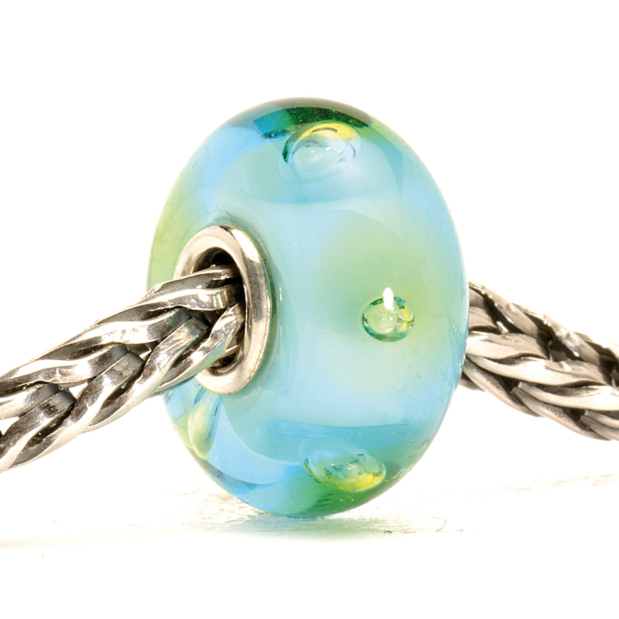 Bubbles glass charm bead