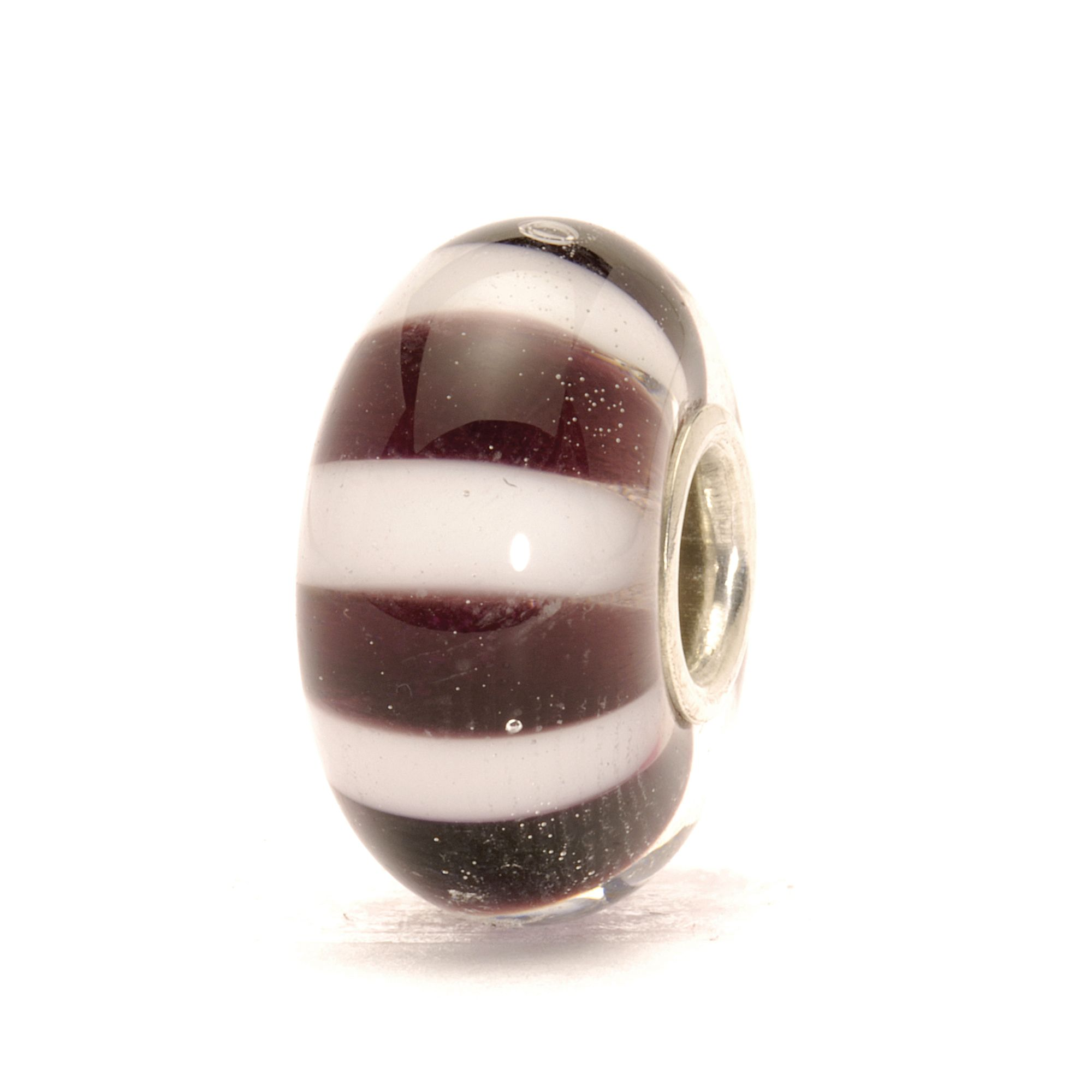 Black and White Striped Bead