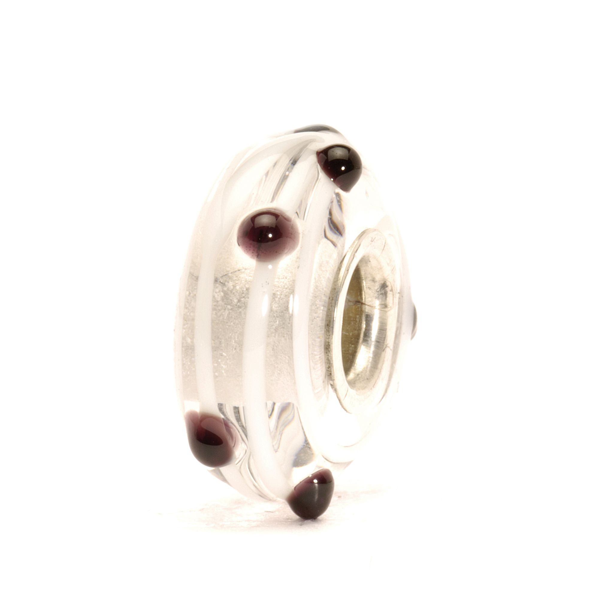 Black Dot Glass Charm Bead