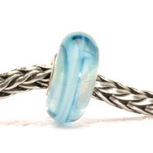 Ribbon glass charm bead