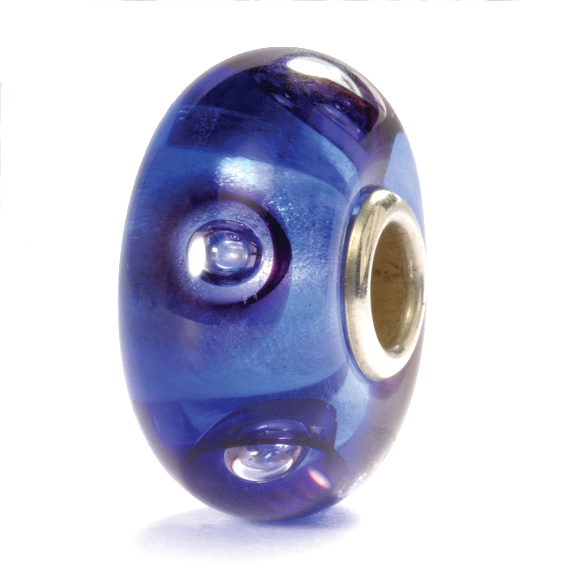 Clear Blue Bubbles Glass Bead