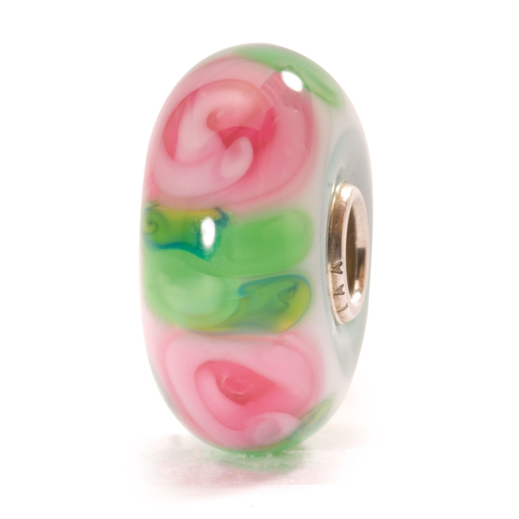 Rose glass charm bead