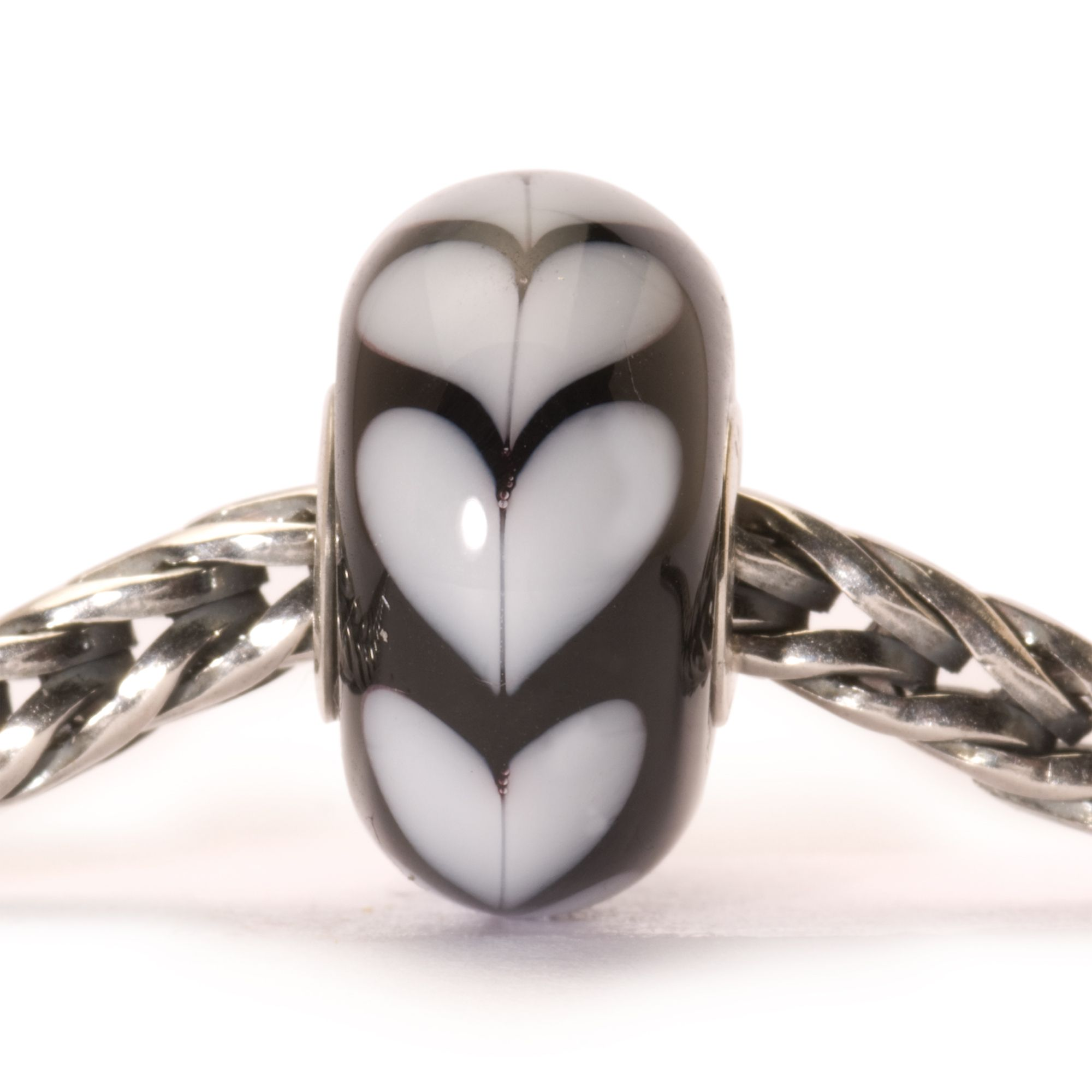 Heart glass charm bead