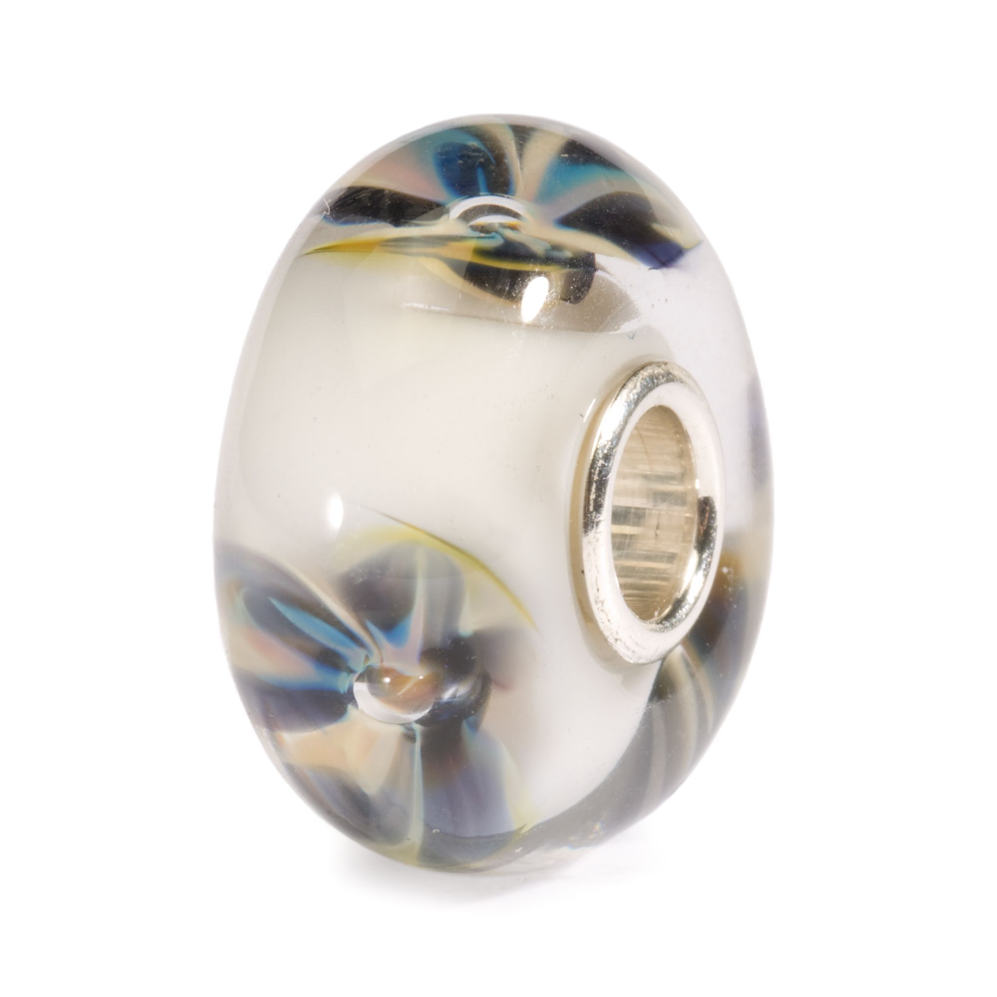 Desert Flower glass charm bead
