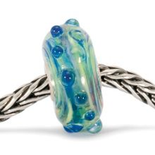 Whitecap glass charm bead