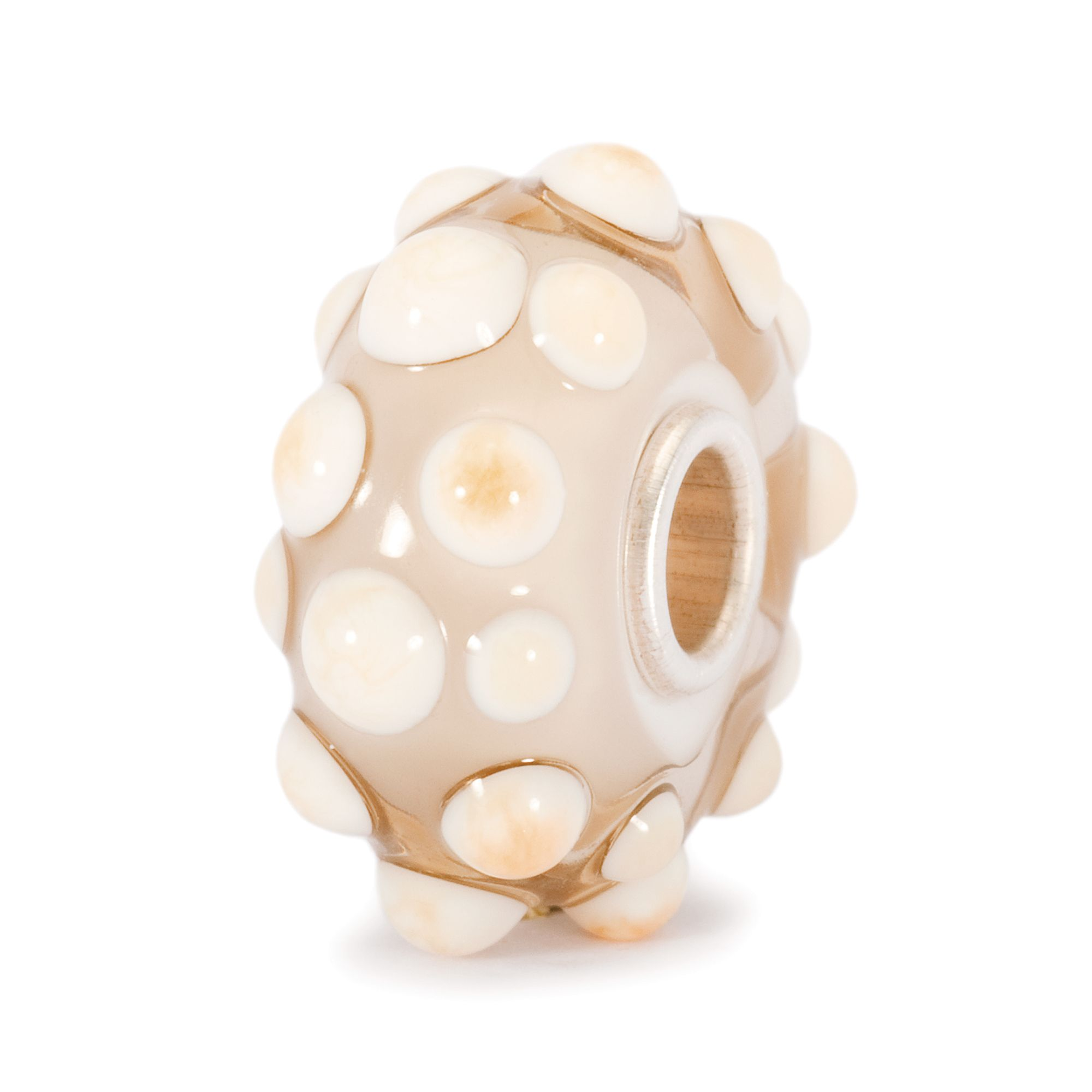Shell glass charm bead