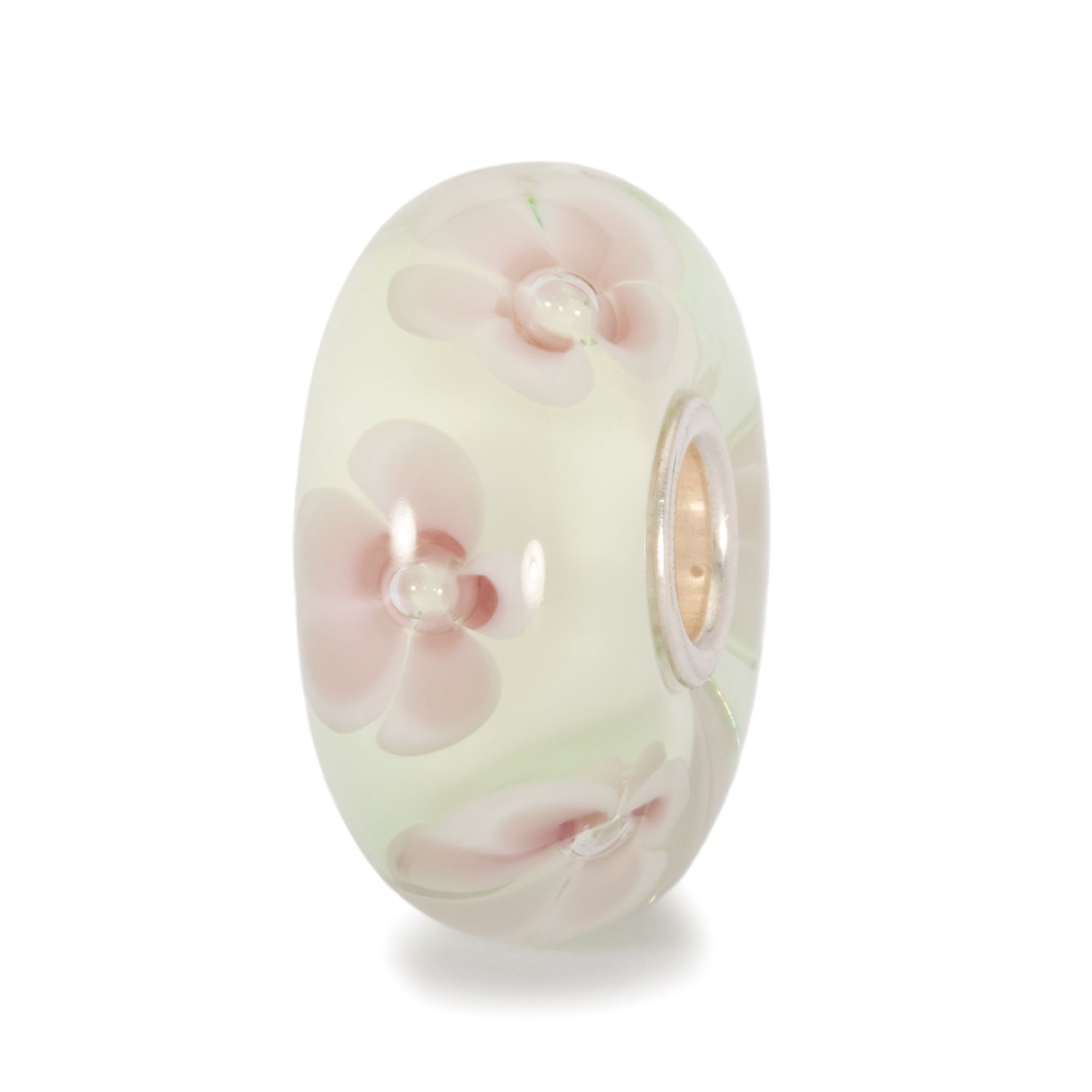 Pastel Flower glass charm bead