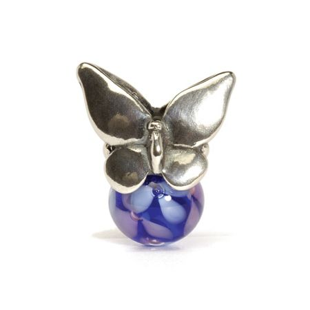Trollbeads Summer silver and glass charm bead
