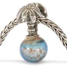 Palm Island silver and glass charm bead