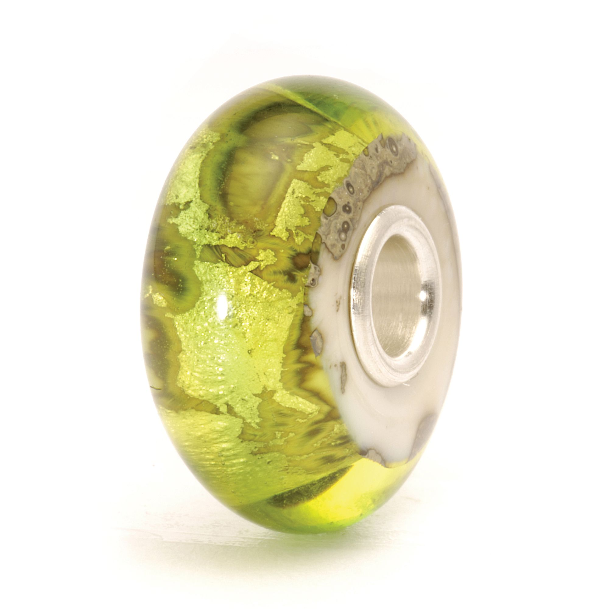 Earth glass charm bead