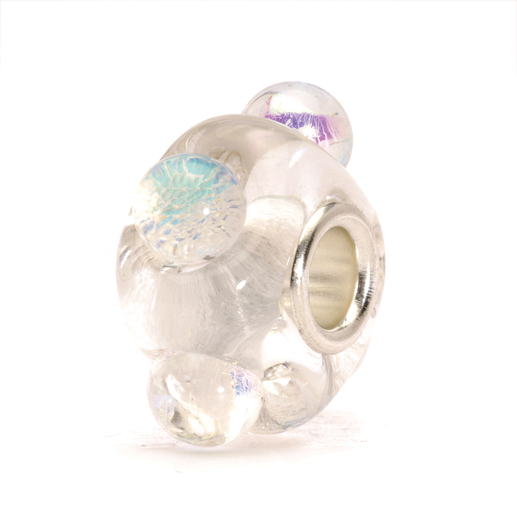 Dichroic Ice glass charm bead