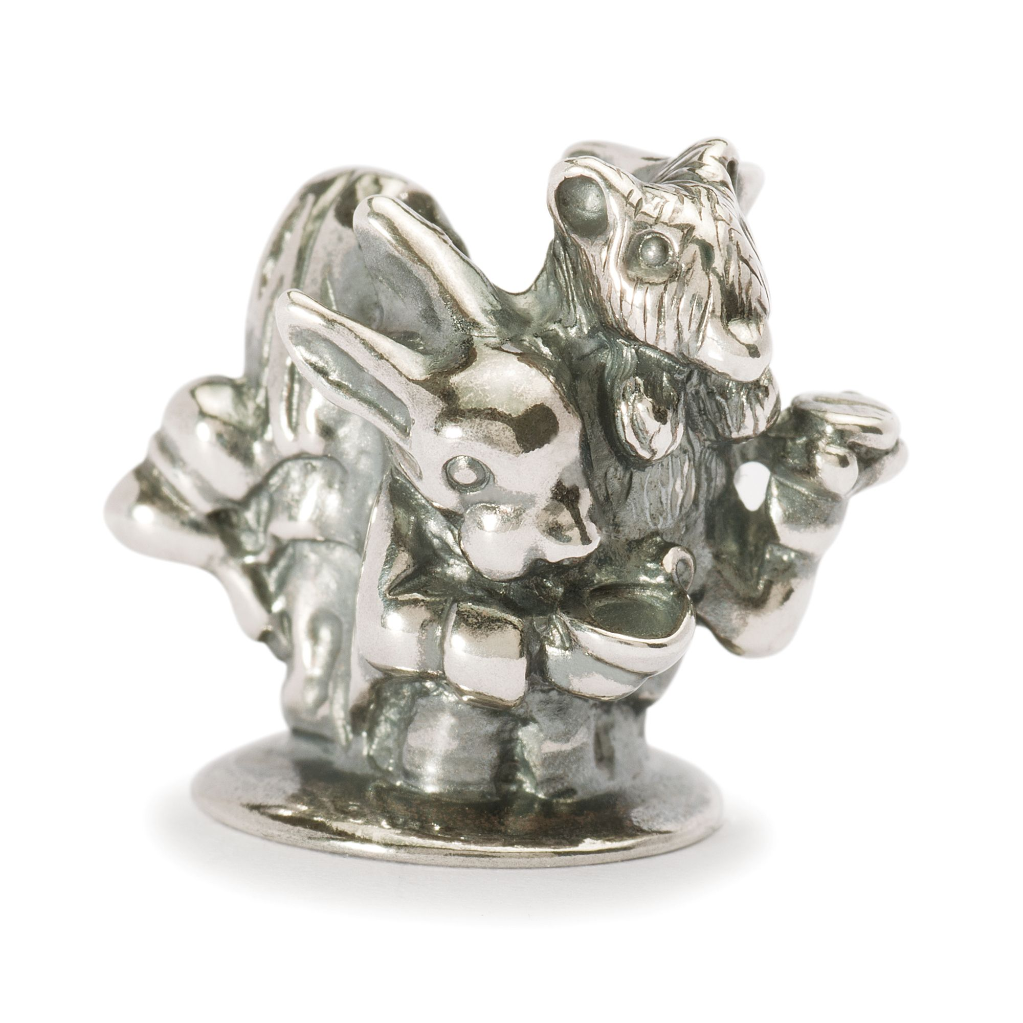 English Tea Party silver charm bead