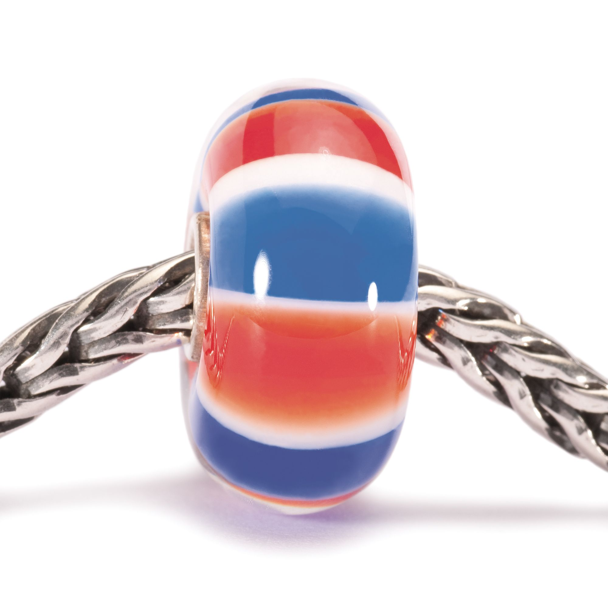 British Colours glass charm bead