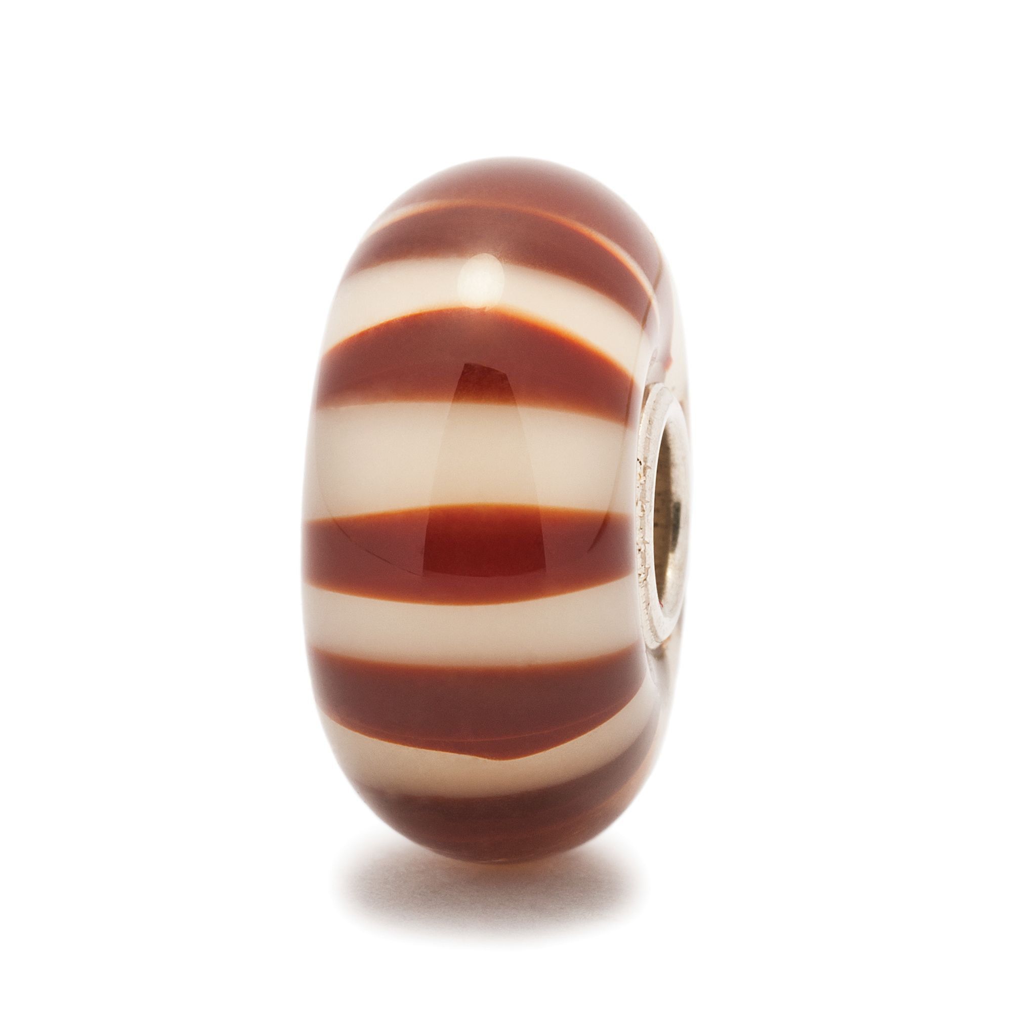 Stripe glass charm bead