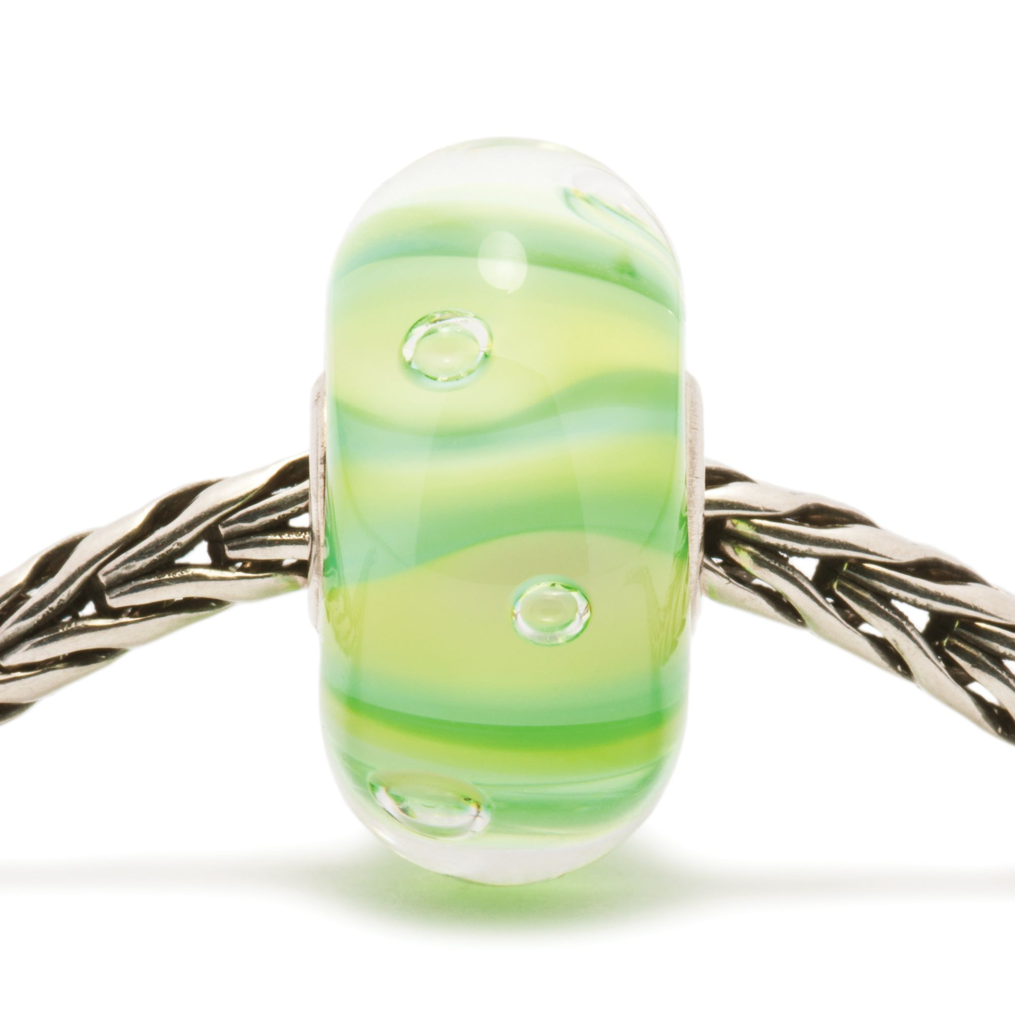 Stripe Bubbles glass charm bead