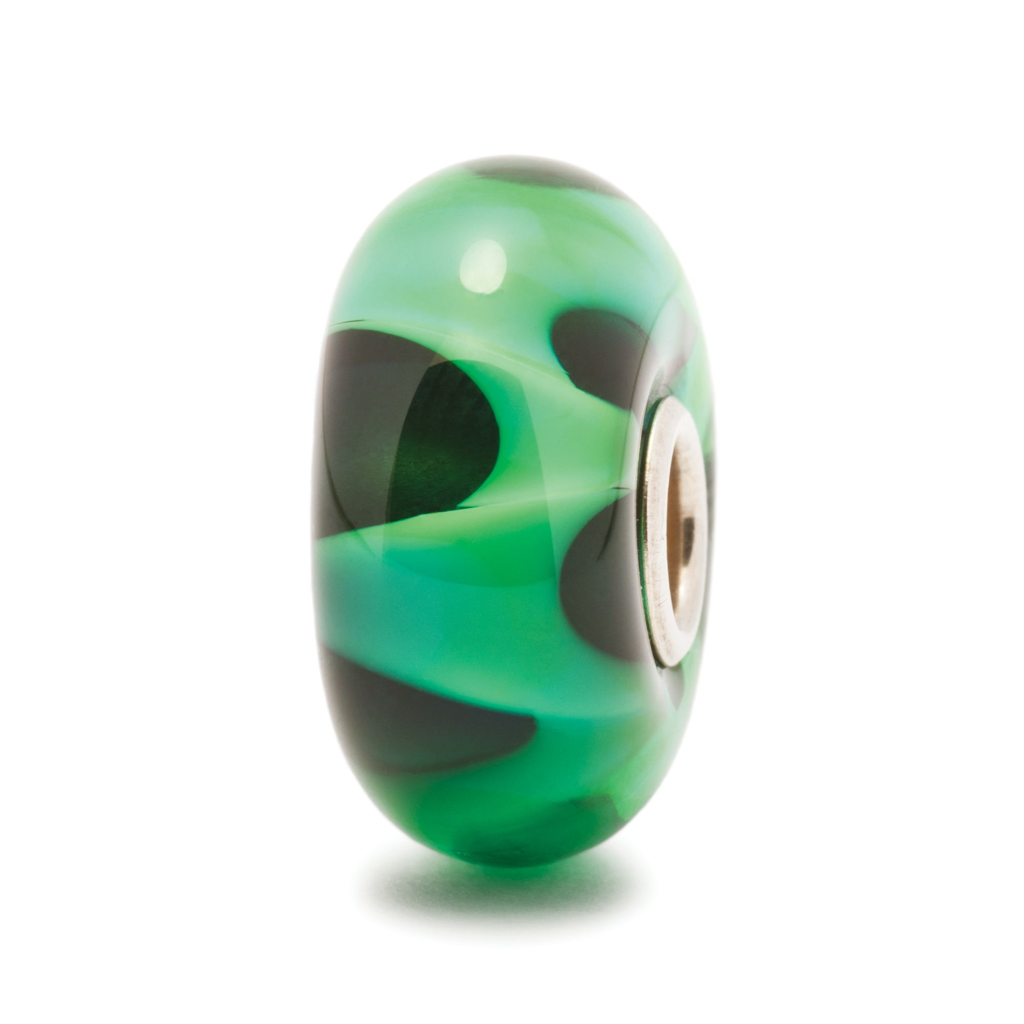 Wave glass charm bead