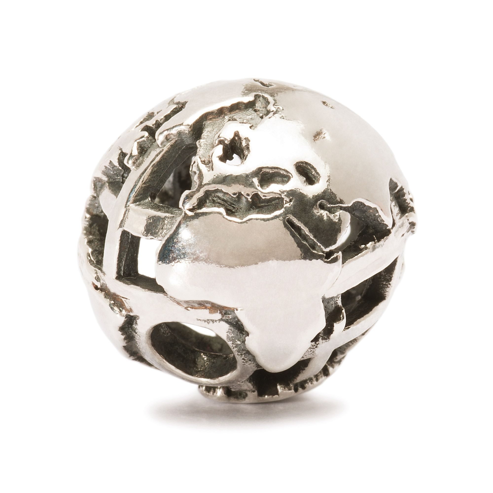 Silver Big World Charm
