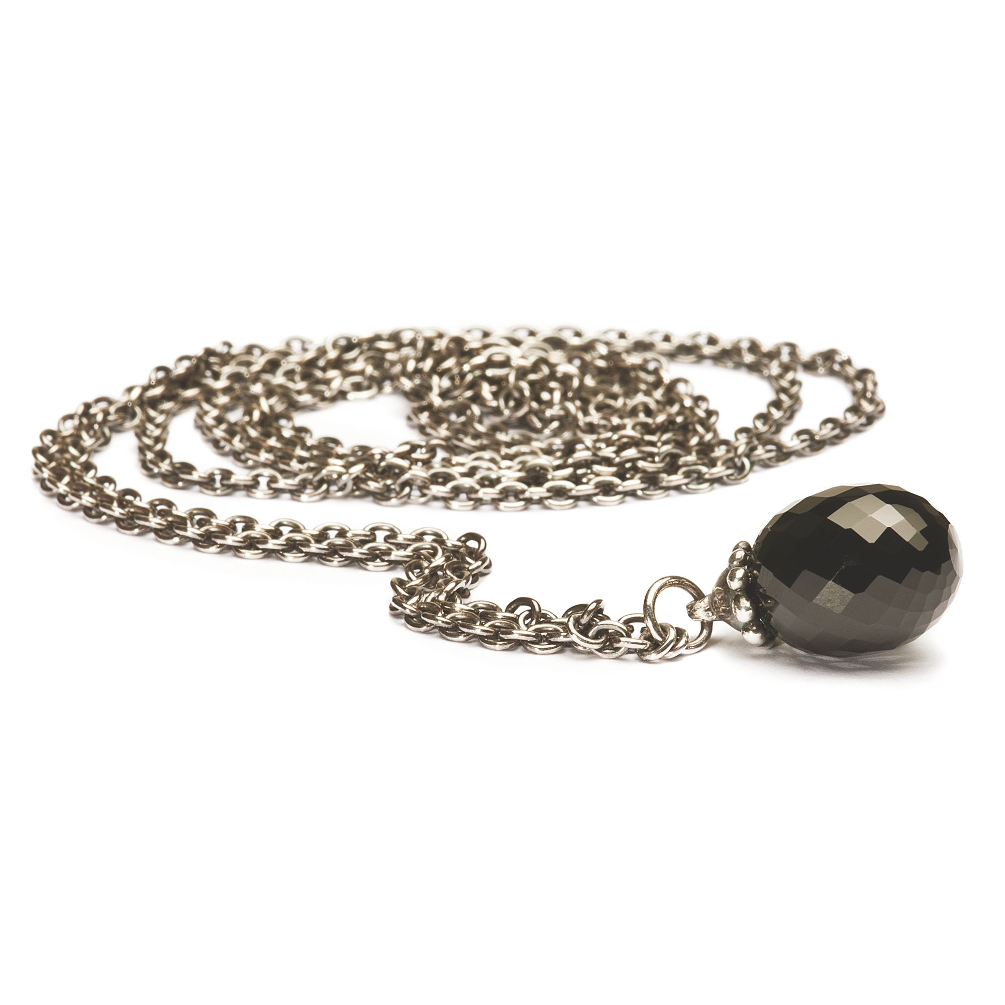 Necklace Silver with Fantasy Onyx 100cm