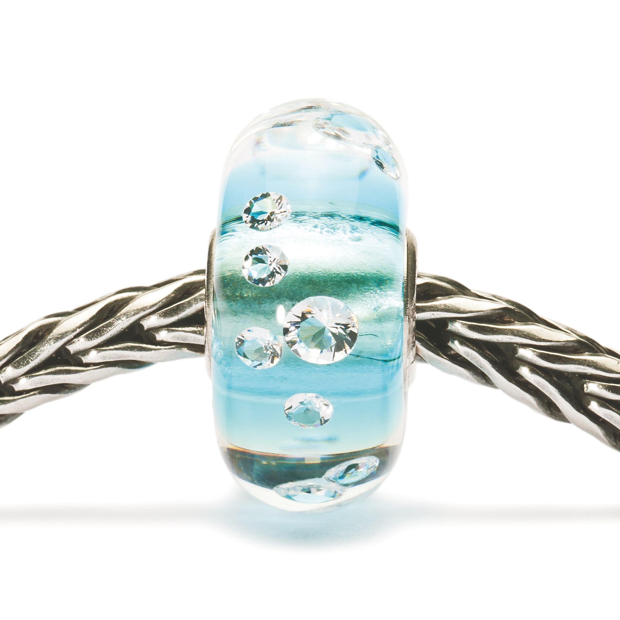 The Diamond Bead Ice blue Charm